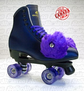 Purple Punch! Dominion 66G Roller Skates with Purple Glitter Wheels