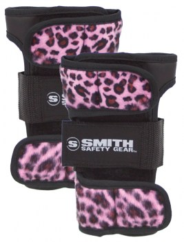 SMITH Scabs Wrist Guards PINK LEOPARD