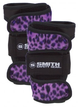 SMITH Scabs Wrist Guards PURPLE LEOPARD