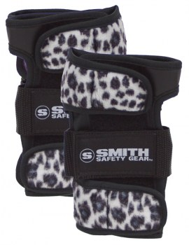 SMITH Scabs Wrist Guards WHITE LEOPARD
