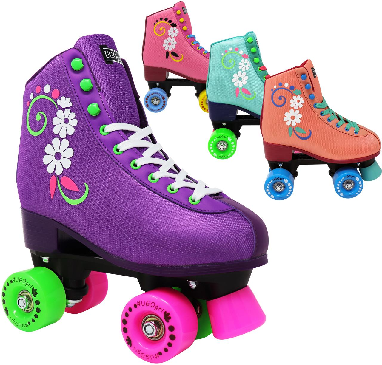 INSTOCK! Last Ones! UGOGRL Youth & Adult Beginner Roller Skate - Indoor AND Outdoor!
